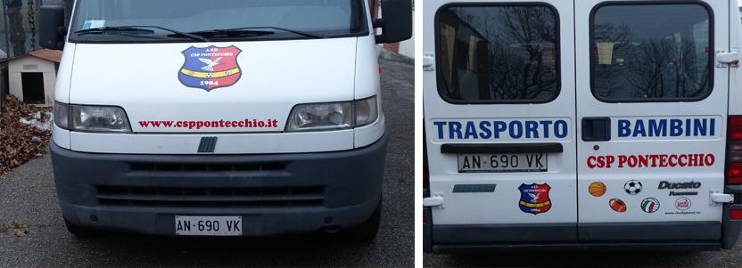 furgone adesivi scritte