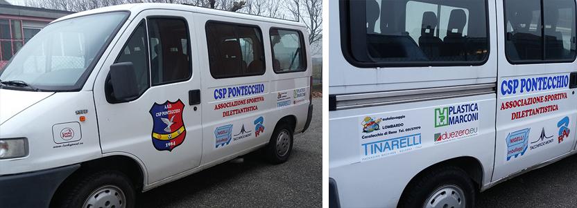 furgone adesivi scritte personalizzate